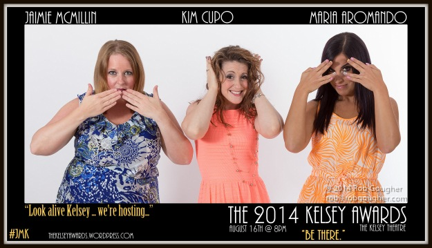 The beautiful and hilarious hosts of the 2014 Kelsey Awards.