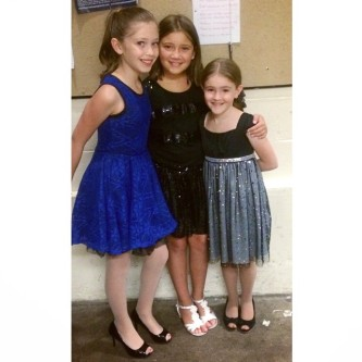 #MiniJMK getting ready for their big presentation at The 2014 Kelsey Awards. From left to right: Charlotte Gougher, Elizabeth Rzasa, and Abigail Bastian.