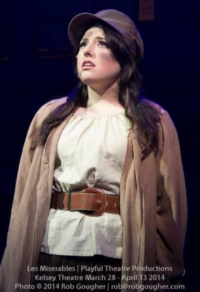 "Samantha Sharpe as ""Eponine"" in Les Miserables."